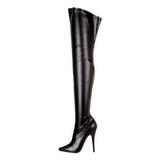 Negro Mate 15 cm DOMINA-3000 Largas Botas Altas para Hombres