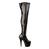 Negro Mate 18 cm ADORE-3000 over knee botas altas con tacón