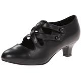 Negro Mate 5 cm DAME-02 Calzado de Salón Planos Tacón