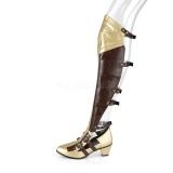 Negro Mate 6,5 cm MAIDEN-8830 botas altas cosplay