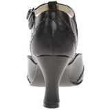 Negro Mate 7,5 cm FLAPPER-26 Calzado de Salón Planos Tacón