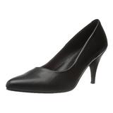 Negro Mate 7,5 cm PUMP-420 Zapato Salón Clasico para Mujer