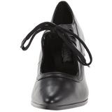 Negro Mate 7 cm VICTORIAN-03 Calzado de Salón Planos Tacón