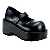 Negro Mate 8,5 cm DOLLIE-01 Góticos Zapatos de Salón Plataforma