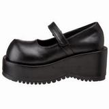 Negro Mate 8,5 cm DOLLY-01 Góticos Zapatos de Salón Plataforma