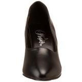 Negro Mate 8 cm DIVINE-420W Calzado de Salón Planos Tacón