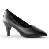 Negro Mate 8 cm DIVINE-420W zapatos de salón tacón bajo