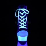 Negro Neon 15 cm DELIGHT-600SK-02 Zapatos de lona con tacón