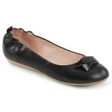 Negro OLIVE-08 bailarinas zapatos planos mujer