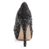 Negro Piedras Brillantes 13,5 cm FELICITY-20 Zapatos de tacón altos mujer