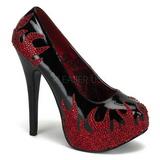 Negro Piedras Brillantes 14,5 cm Burlesque TEEZE-27 Zapatos de tacón altos mujer