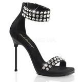 Negro Piedras Strass 11,5 cm CHIC-41 Zapatos Tacon Aguja Plataforma