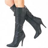 Negro Piel 10 cm VANITY-2013 Botas de tacón de mujer