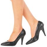 Negro Piel 10 cm VANITY-420 Calzado de Salón Planos Tacón