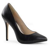 Negro Piel 13 cm AMUSE-20 Stiletto Zapatos Tacón de Aguja