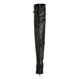 Negro Piel 13 cm LEGEND-8899 Largas Botas Altas para Hombres