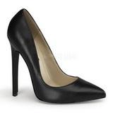 Negro Piel 13 cm SEXY-20 Calzado de Salón Planos Tacón