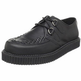 Negro Piel 2,5 cm CREEPER-602 Zapatos de Creepers Hombres Plataforma