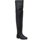 Negro Piel 4 cm MAVERICK-8824 Largas Botas Altas para Hombres