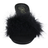 Negro Plumas 8 cm AMOUR-03 Zuecos de mujer para Hombres