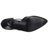 Negro Polipiel 10,5 cm VANITY-415 Calzado de Salón Planos Tacón