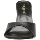 Negro Polipiel 10 cm CLASSIQUE-01 zapatos de zuecos tallas grandes