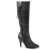 Negro Polipiel 10 cm DREAM-2026 botas tallas grandes