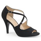 Negro Polipiel 10 cm DREAM-412 sandalias tallas grandes