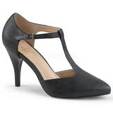 Negro Polipiel 10 cm DREAM-425 zapatos de salón tallas grandes