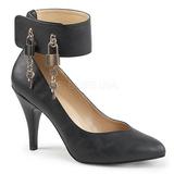 Negro Polipiel 10 cm DREAM-432 zapatos de salón tallas grandes