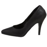 Negro Polipiel 10 cm VANITY-420 Zapatos de Salón para Hombres