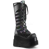 Negro Polipiel 11,5 cm DEMONIA BEAR-205 botas plataforma góticos