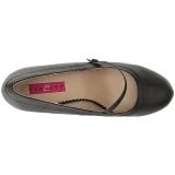 Negro Polipiel 11,5 cm PINUP-01 zapatos de salón tallas grandes