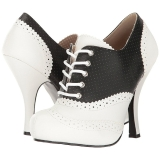 Negro Polipiel 11,5 cm PINUP-07 zapatos oxford tallas grandes