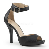 Negro Polipiel 12,5 cm EVE-02 sandalias tallas grandes