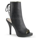 Negro Polipiel 12,5 cm EVE-102 botines tallas grandes