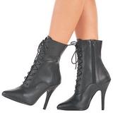 Negro Polipiel 13 cm SEDUCE-1020 Botines de mujer para Hombres