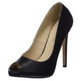 Negro Polipiel 13 cm SEXY-42 Zapato Salón Clasico para Mujer