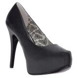 Negro Polipiel 14,5 cm Burlesque TEEZE-06W zapatos de salón pies anchos hombre
