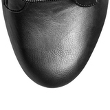 Negro Polipiel 15,5 cm DELIGHT-1020 Plataforma Botines Altos