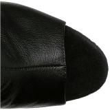 Negro Polipiel 16,5 cm ILLUSION-3019 Botas Altas Plataforma