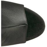 Negro Polipiel 18 cm ADORE-3019 Botas de mujer hasta la rodilla