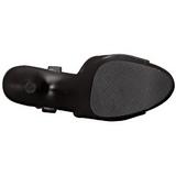 Negro Polipiel 18 cm ADORE-709 Zapatos Tacón Aguja Plataforma