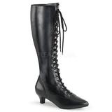 Negro Polipiel 5 cm FAB-2023 botas tallas grandes