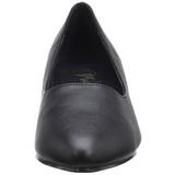 Negro Polipiel 5 cm FAB-420W Calzado de Salón Planos Tacón