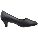 Negro Polipiel 5 cm FAB-420W Zapatos de Salón para Hombres