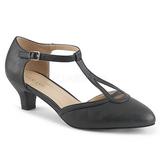 Negro Polipiel 5 cm FAB-428 zapatos de salón tallas grandes