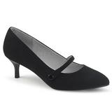 Negro Polipiel 6,5 cm KITTEN-03 zapatos de salón tallas grandes