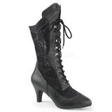 Negro Polipiel 7,5 cm DIVINE-1050 botines tallas grandes