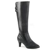 Negro Polipiel 7,5 cm DIVINE-2018 botas tallas grandes
